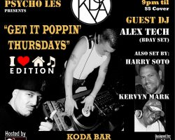 GET IT POPPIN THURSDAYS – I LOVE HOUSE EDITION